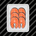 fish, salmon, seafood, packing