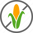 allergy, corn, food, free, label, maize, starch icon