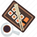 food, gastronomy, japan, meal, plate, restaurant, sushi icon