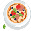food, gastronomy, italy, meal, pizza, plate, restaurant icon