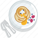 food, gastronomy, lunch, meal, pancake, plate, restaurant icon