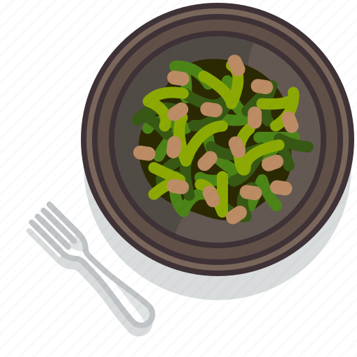 food, gastronomy, lunch, meal, plate, restaurant, vegetable icon