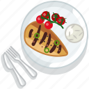 chicken, cooking, food, meal, meat, restaurant, serving icon