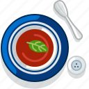 cooking, food, meal, restaurant, serving, soup, tomato icon