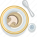 cooking, food, meal, mushroom, restaurant, serving, soup icon