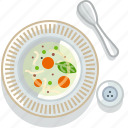 cooking, food, meal, restaurant, serving, soup, vegetable icon