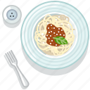 cooking, food, meal, pasta, restaurant, serving, spaghetti icon