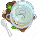 cooking, food, mushroom, pot, restaurant, serving, soup icon