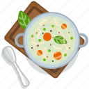 cooking, food, pot, restaurant, serving, soup, vegetable icon