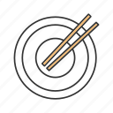 bowl, chinese, chopsticks, dish, empty, food, plate icon