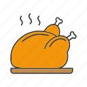 chicken, food, fried, hot, roasted, turkey, whole chicken icon