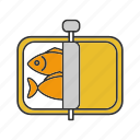 can, canned, conserved, fish, food, seafood, sprats icon