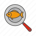 cooking, fish, fry, frying, frypan, pan, seafood icon