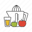 apple, drink, fresh, fruit, juice, juicer, juicing machine icon