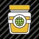 food, glass jar, grape, grapes, jam, jelly, marmelade icon