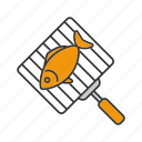 barbeque, bbq, cooking, fish, food, grilled, hand grill icon