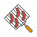barbecue, bbq, food, grilled, hand grill, hot dog, sausage icon