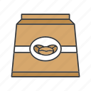bag, beans, coffee, coffee beans, drink, ground coffee, paper package icon