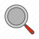 cooking, empty, food, fried, fry, frying pan, frypan icon