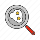 breakfast, cooking, eggs, food, fried, frying pan, pan icon