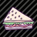 bread, food, hand drawn, sandwich icon