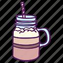 drinks, hand drawn, shake, sweet icon