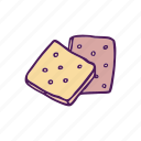 biscuit, cookie, fast food, food, hand drawn, snacks icon