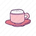 coffee, cream, drinks, food, hand drawn icon