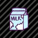 drink, food, hand drawn, milk icon