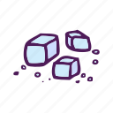 cube, food, hand drawn, ice icon