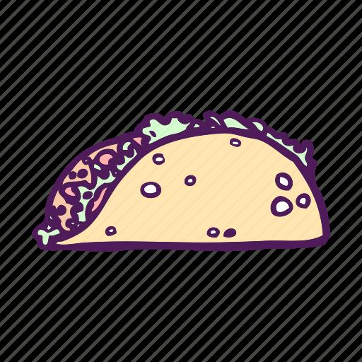 food, hand drawn, mexican, tortilla, wrap icon