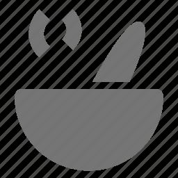 bowl, food, soup icon