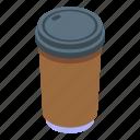 plastic, coffee, cup, isometric