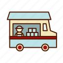 business, food, restaurant, retro, snack, truck icon