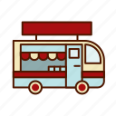 business, food, restaurant, retro, truck icon