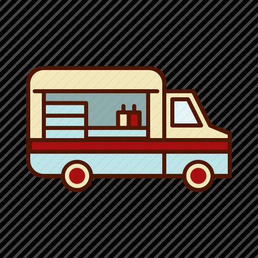 Business Food Restaurant Retro Truck Van Icon