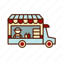 burger, food, truck icon