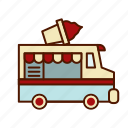 business, food, ice cream, restaurant, retro, truck icon