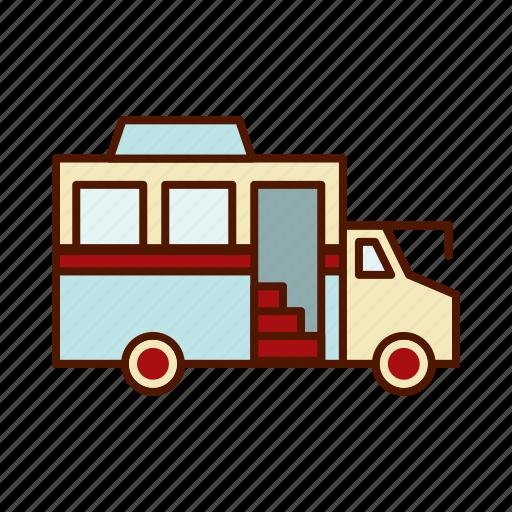 Bus Business Food Restaurant Retro Truck Icon