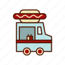 food, hot dog, truck icon