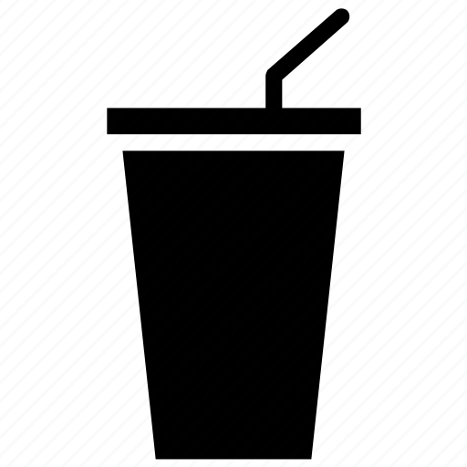 disposable glass, drink, glass with straw, juice, paper cup, soft drink icon