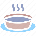 bowl, drinking, food, hot food, hot soup, snack, soup icon