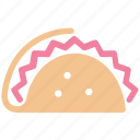 fast, fast food, food, junk food, lunch, mexican, taco, tortilla icon