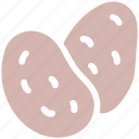 carbs, cooking, food, healthy, potato, root, vegetable, vegetarian icon
