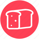 bakery, bread, breakfast, food, lunch, sandwich, toast icon