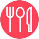 eating, flatware, fork, knife, spoons set, tableware, utensil icon