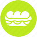 burger, eating, fast food, hamburger, junk food, long burger icon