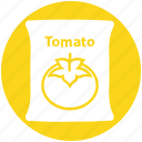 food, sack, tomato, tomato bag, tomato pack, tomato sack, vegetable icon