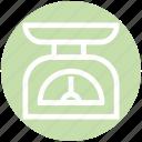 equipment, kitchen, kitchenware, scale, weight icon