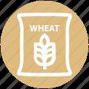 bag, flour, food, grain, wheat, wheat bag, wheat sack icon